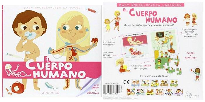 libros infantiles, materiales, actividades manualidades aprender cuerpo humano baby enciclopedia larousse