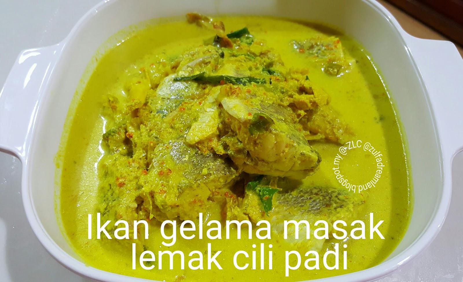 ZULFAZA LOVES COOKING: Ikan Gelama Masak Lemak Cili Padi