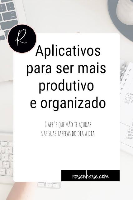 aplicativos de organização e produtividade