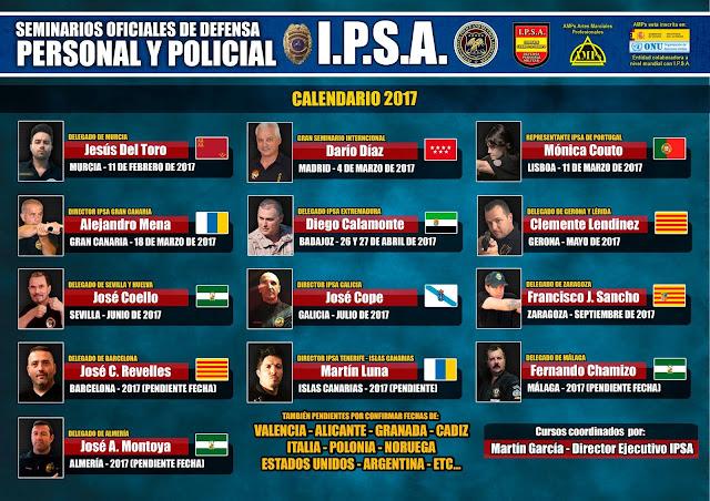 CALENDARIO DE CURSOS IPSA SEMINARIO OFICIALES DE DEFENSA PERSONAL Y POLICIAL IPSA DEFENSA PERSONAL POLICIAL CURSO I.P.S.A. SEMINARIO GUARDIA CIVIL POLICIA MILITAR PENITENCIARIA SEGURIDAD ASOCIACION INTERNACIONAL IPSA INTERNATIONAL POLICE AND SECURITY ASSOCIATION IPSA INTERNACIONAL CURSOS SEMINARIOS