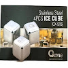OX-915 Stainless Steel 4Pcs Ice Cube Oxone