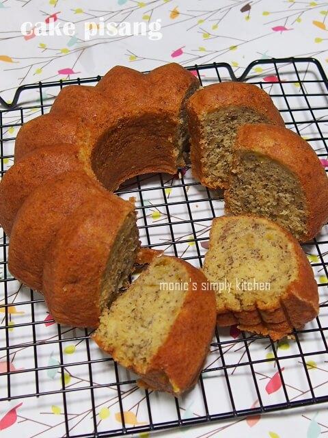 resep cake pisang simple