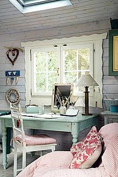 outstanding shabby chic office | Shabby Chic Ireland: Romantic Shabby Chic - Office space