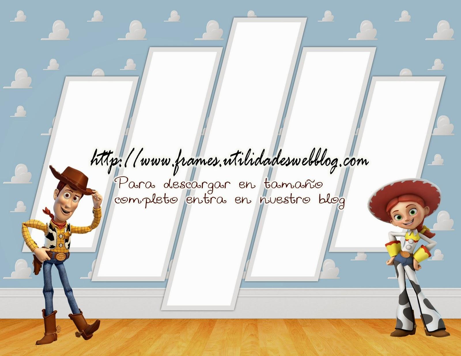2marcos para hacer fotomontajes de Woody y Jessie