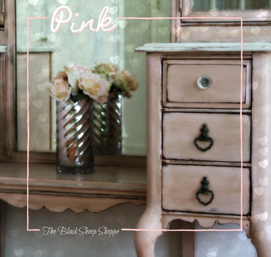 This is a mix of chalk paint for a custom pink.