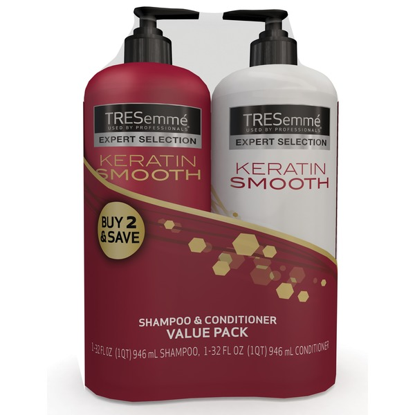 Pack Of 2 - Keratin Smooth Shampoo And Conditioner 946 ml