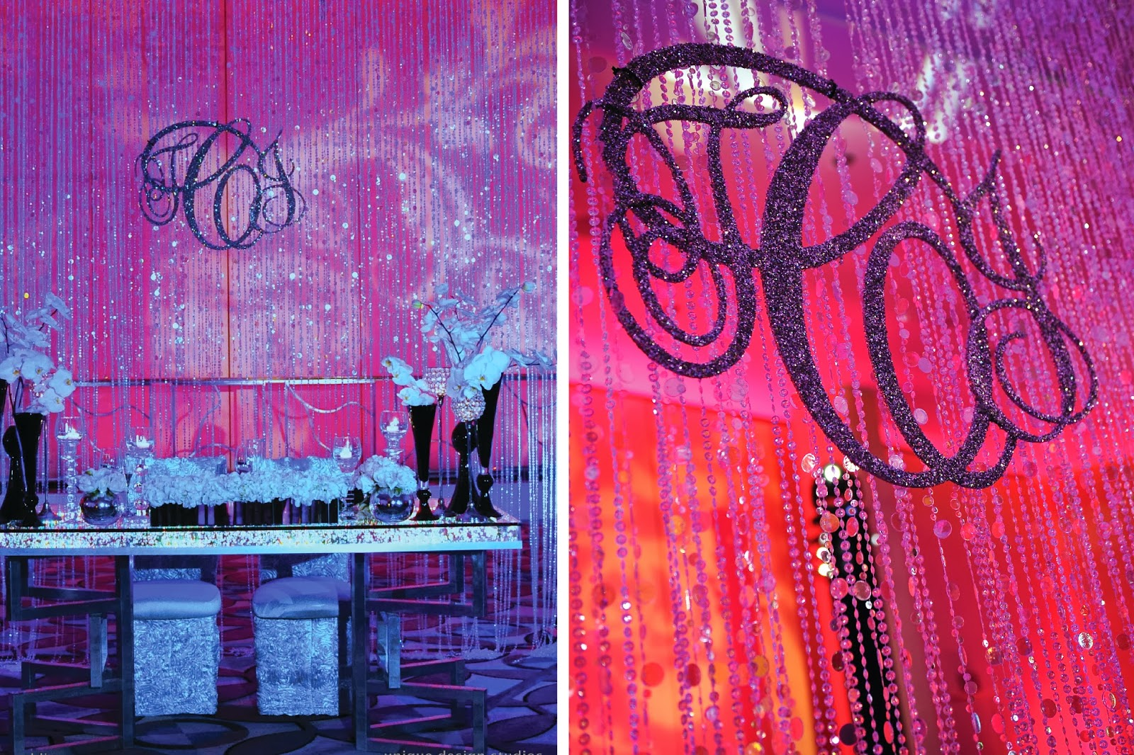 Bling Wedding Decor Backdrop With Custom Monogram By Tiffany Cook