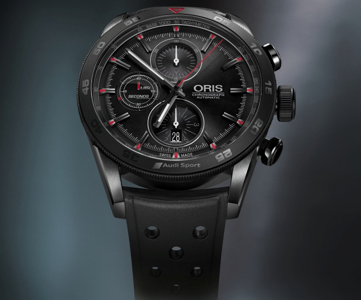 b45b2278b Oris's engineers wanted the watch to indicate running seconds, too. That  comes in the form of a red square that makes a full tour of ...