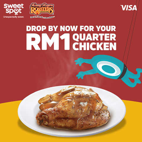 Kenny Rogers ROASTERS Quarter Chicken RM1 di SweetSpot App
