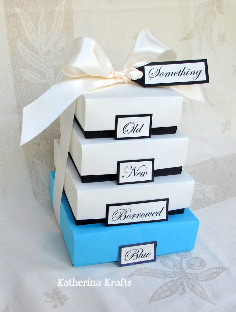 Katherina Krafts: Something Blue Wedding Gift Boxes