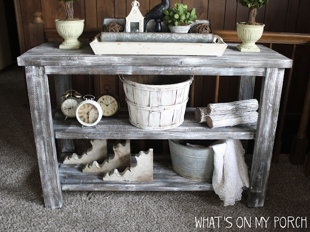 How To Make New Wood Look Weathered & Old: Farmhouse Console Table