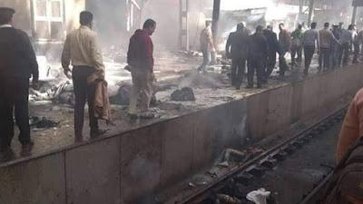 عاجل | حريق هائل في محطة قطار رمسيس إثر انفجار إحدى العربات وسقوط ضحايا