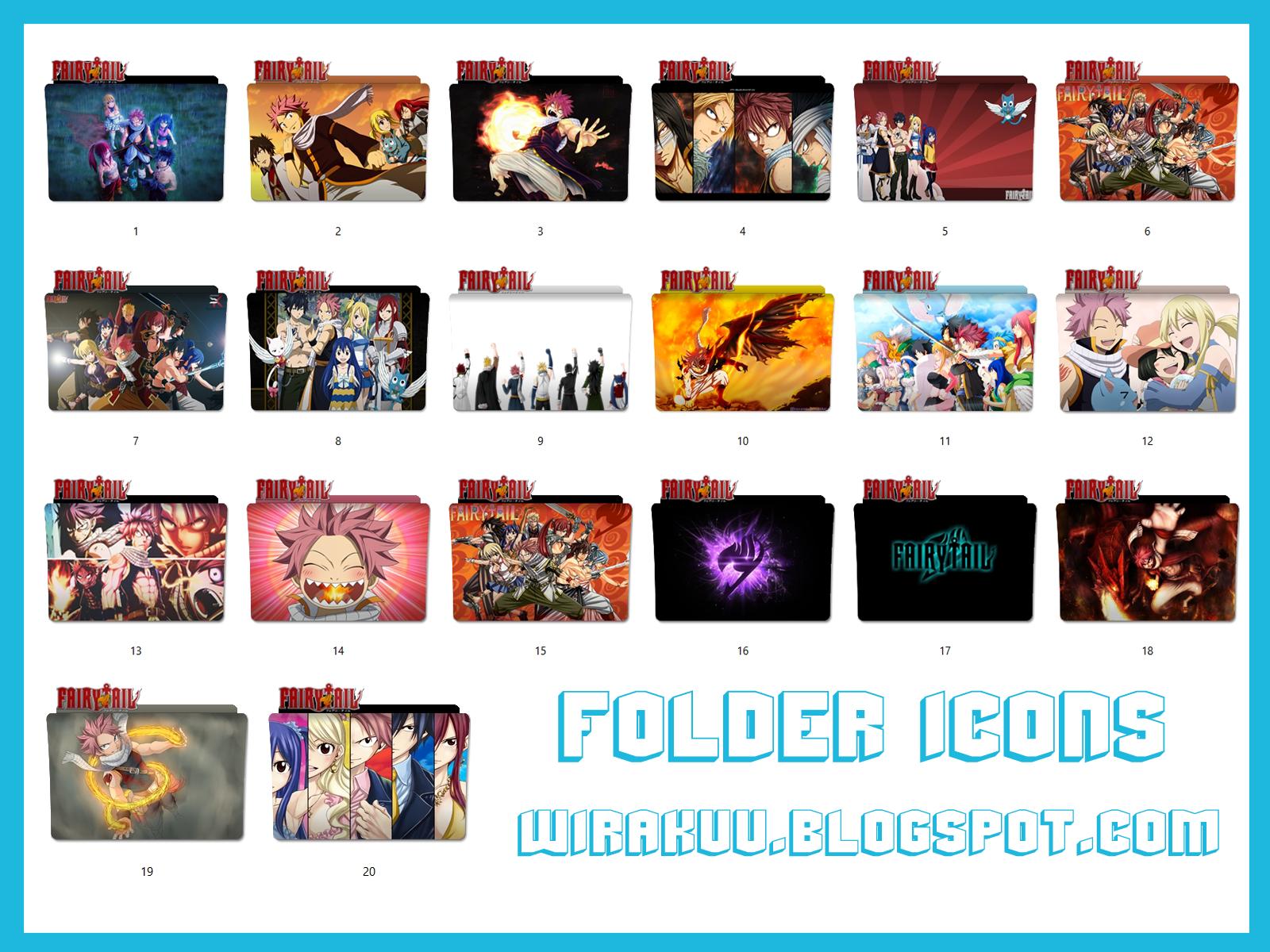 20 Folder Icons Anime Fairy Tail Pack 2 (Windows 7, 8, 10)