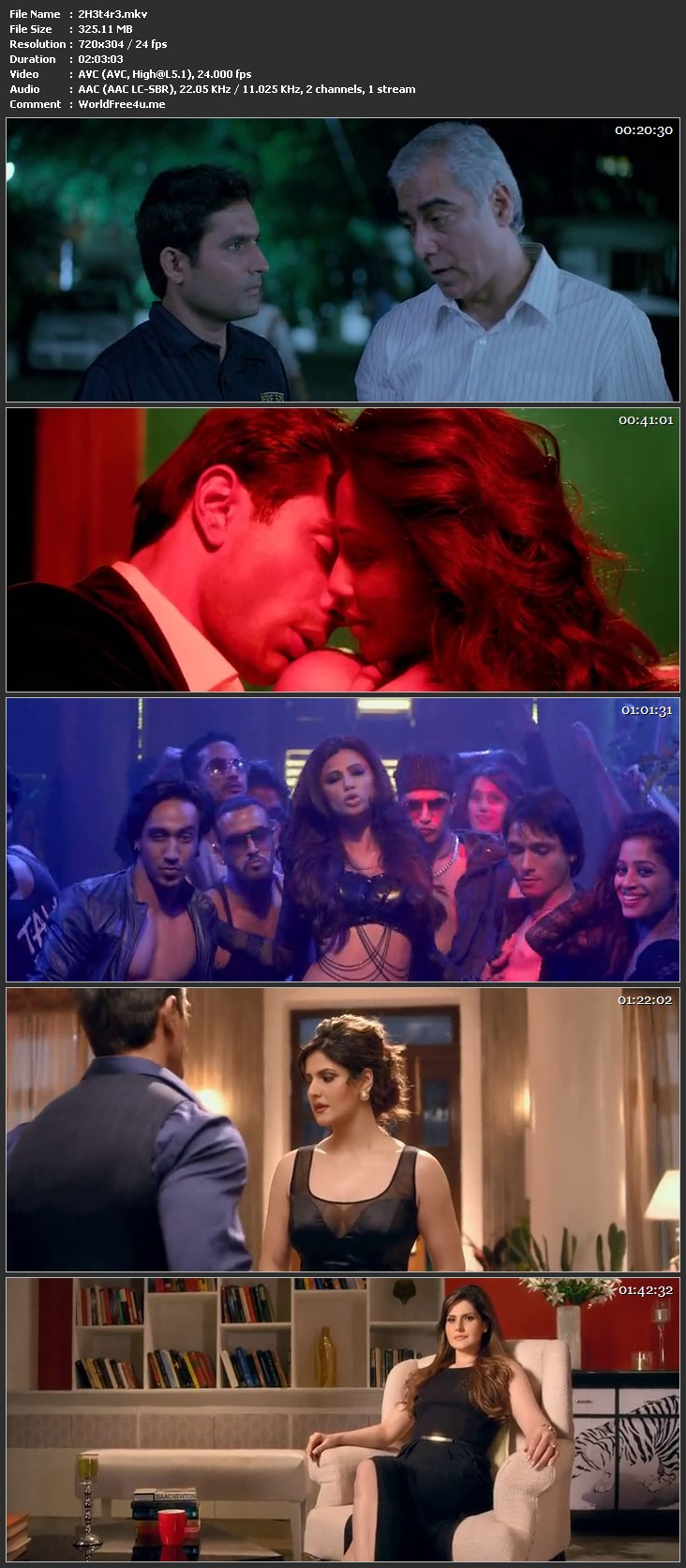 Screen Shot Of Hate Story 3 2015 300MB HDRip 480P Full Hindi Movie Watch Online Free Download
