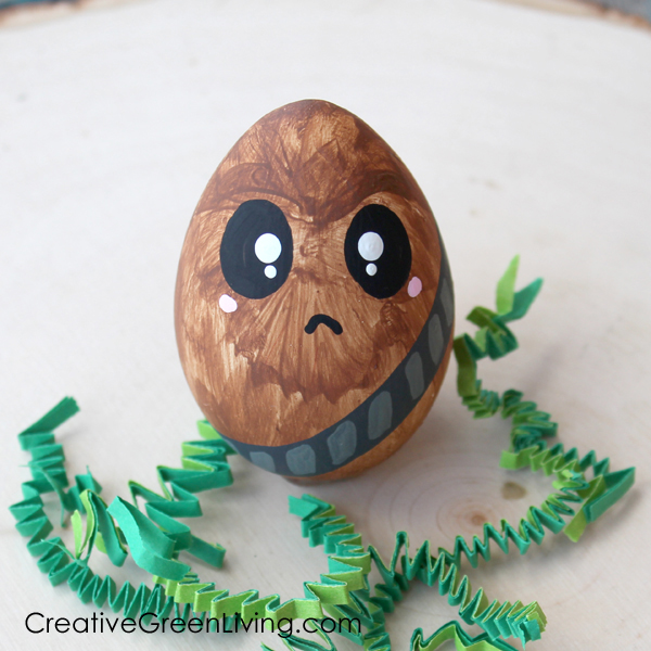 Easter egg decorating ideas with star wars characters - chewbacca