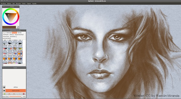 Usuariodebian mypaint arte digital Digital art painting software