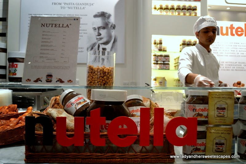 the newly opened Nutella Bar in Dubai