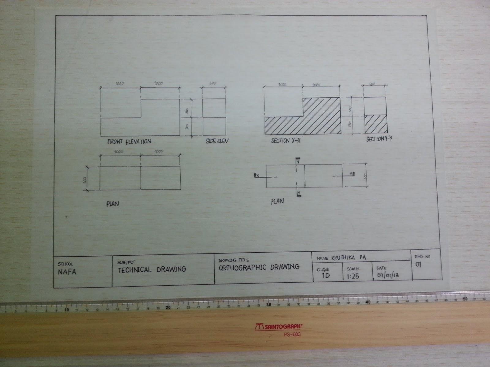 My Portfolio,My Anthology!: Technical Drawing !