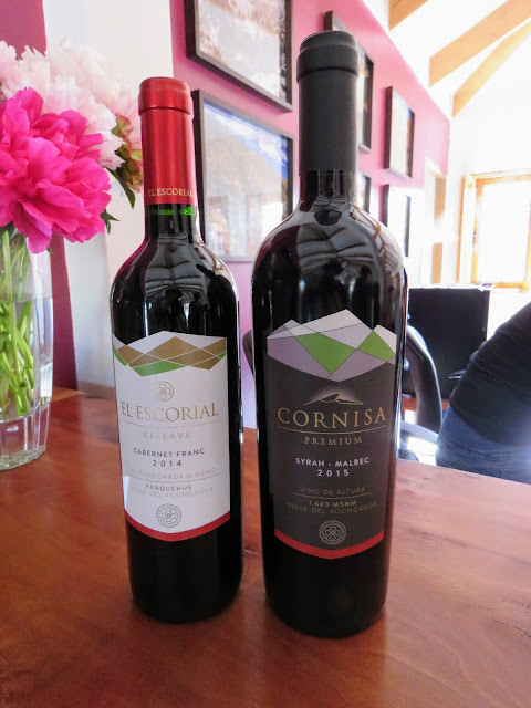 2 bottles of wine from El Escorial vineyard in the Aconcagua Valley