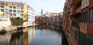 Girona y río Onyar.