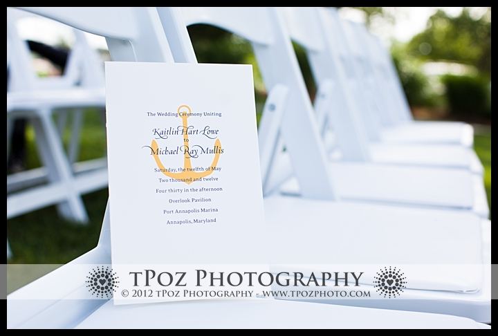 Port Annapolis Marina Wedding Program