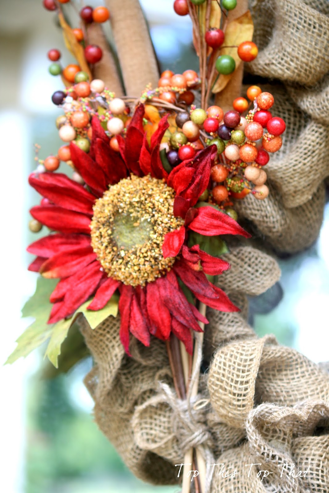 The easiest fall burlap wreath tutorial christmas decorations ideas 2016 - Fall natural decor ideas rich colors ...