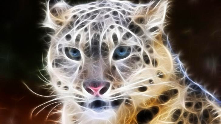 Digital Leopard Art Wallpaper