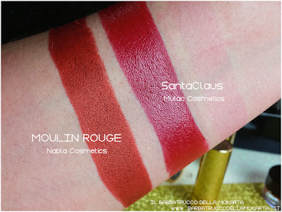 MOULIN ROUGE comparazione diva crime goldust collection Nabla cosmetics