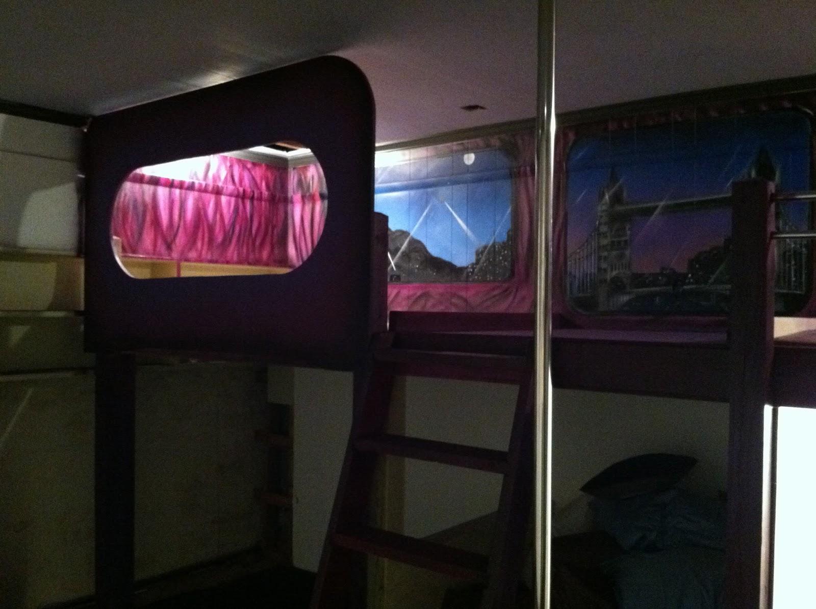 Duff Clothing Custom Tour Bus Bunk Bed Interior Mural