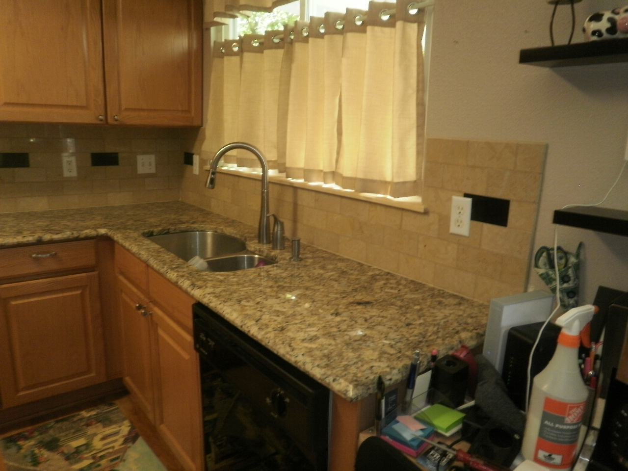 Kitchen Backsplash with Giallo Granite