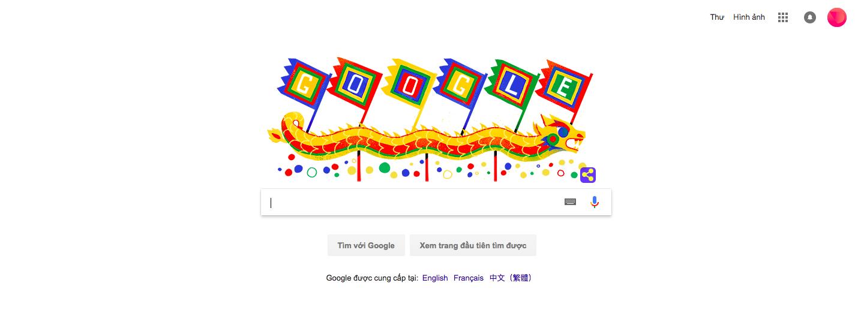 Giao diện trang chủ của Google với doodle mang ý nghĩa Giỗ tổ Hùng Vương - Ảnh chụp màn hình