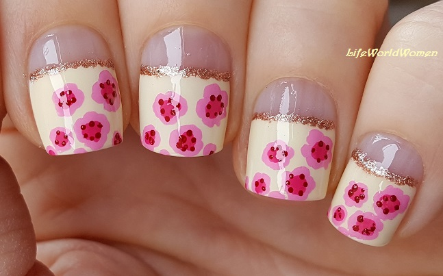 Life World Women Cherry Blossom Nail Art Using Only Toothpick