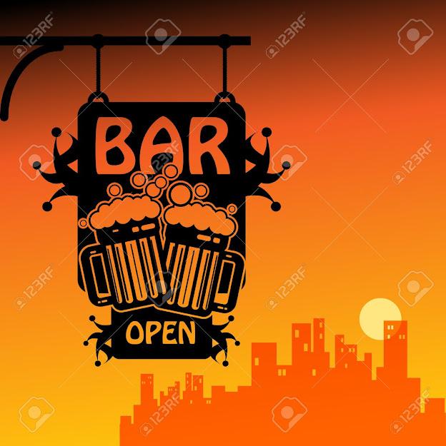 Bar Open Stock Vector