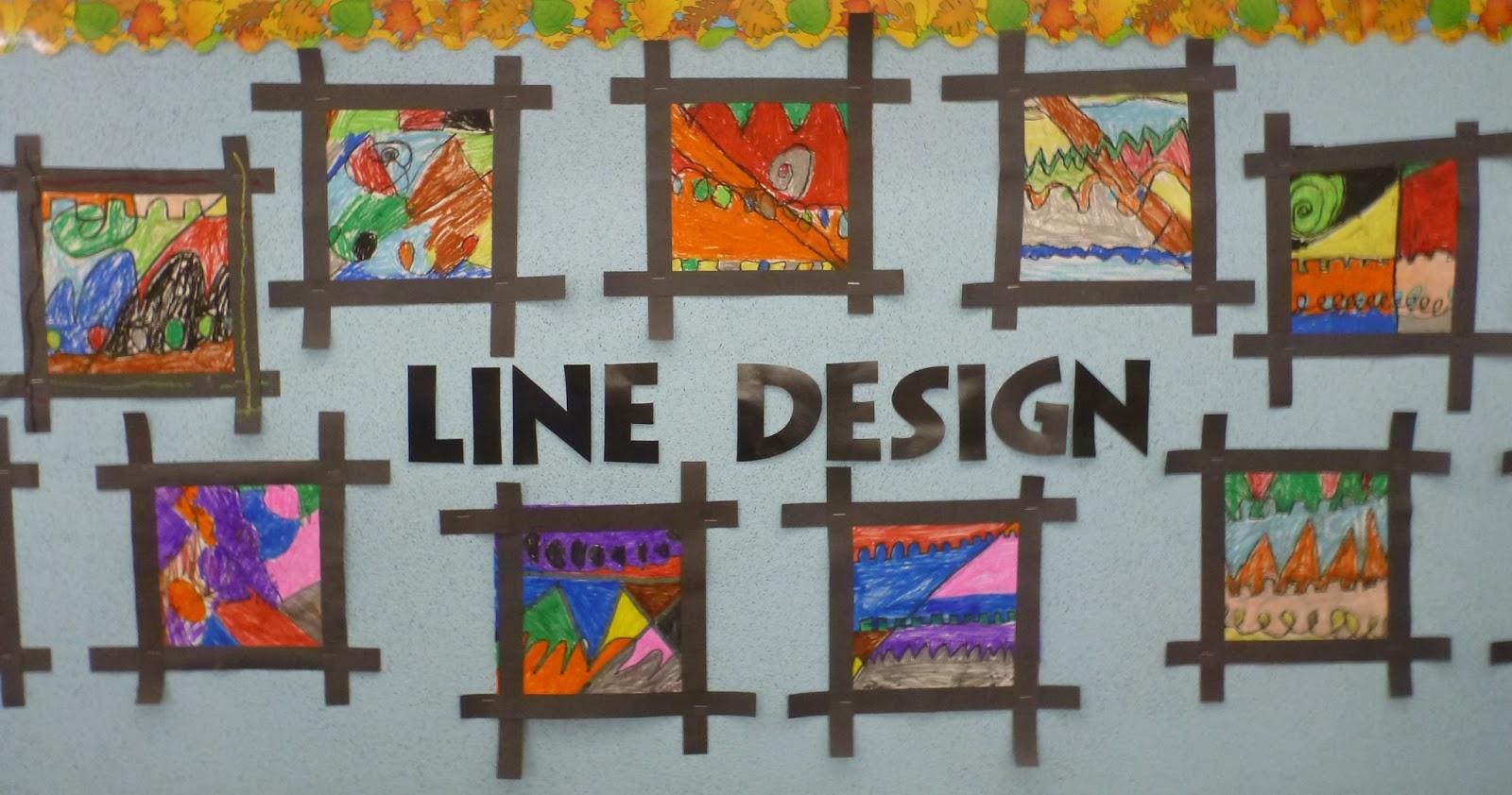 Ms Cocco S Grade 1 Class Our Line Design Art