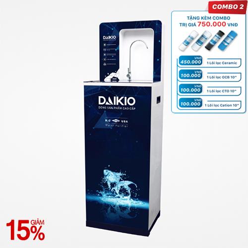 Máy lọc nước cao cấp Daikio DKW-00006A- Đen - 6 cấp