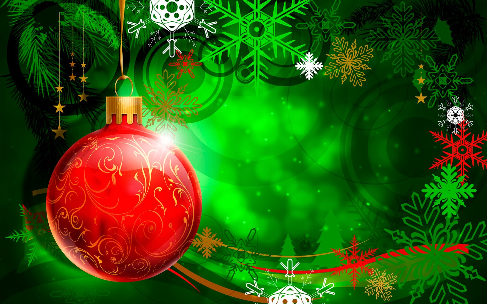 Green Christmas Background HD Wallpaper
