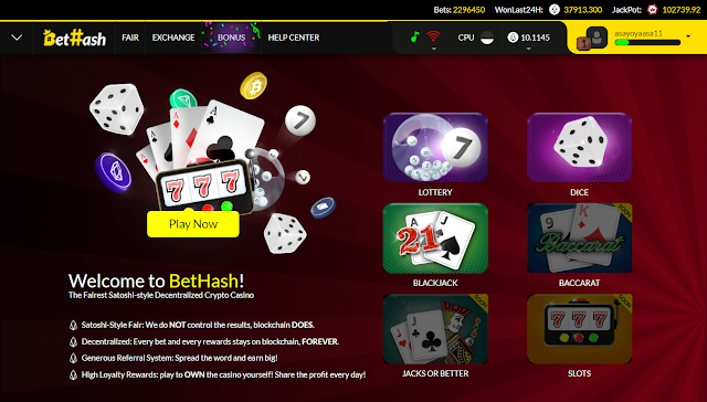 Bethash.io the Crypto Casino YOU Own!