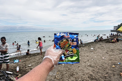 More plastic packaging thrown at Larawan Beach Cebu