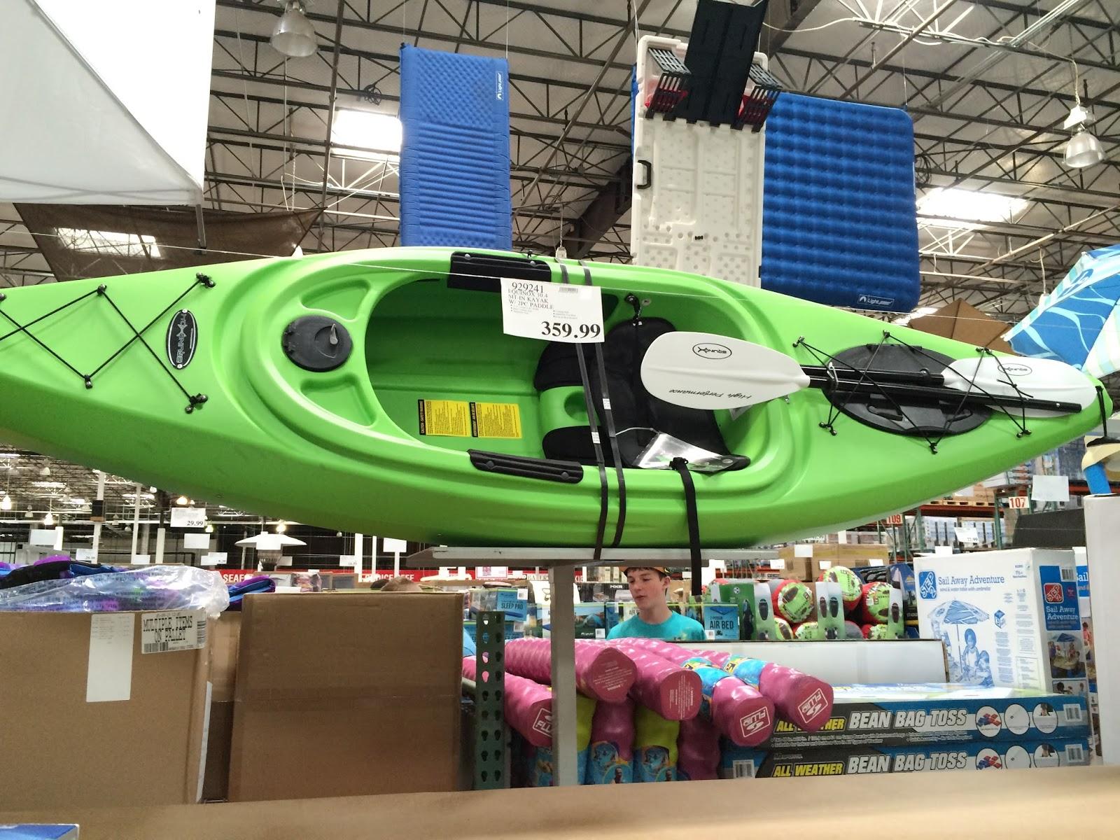 Equinox 10 4 Sit-in Kayak with 2 piece paddle | Costco Weekender