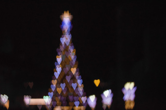 Kretywny bokeh, creative bokeh, rozmyte tło, święta, lampki, lights, christmas, warsaw, warszawa