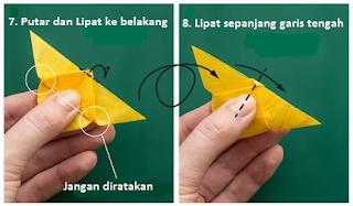 cara membuat origami kupu kupu dari uang kertas