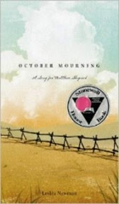 Just Finished... October Mourning, A Song for Matthew Shepard by Leslea Newman