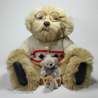 Cheryl Scrivens, Grandpa Norman, Barnsley and puppy Bentley, handmade by Katlyn