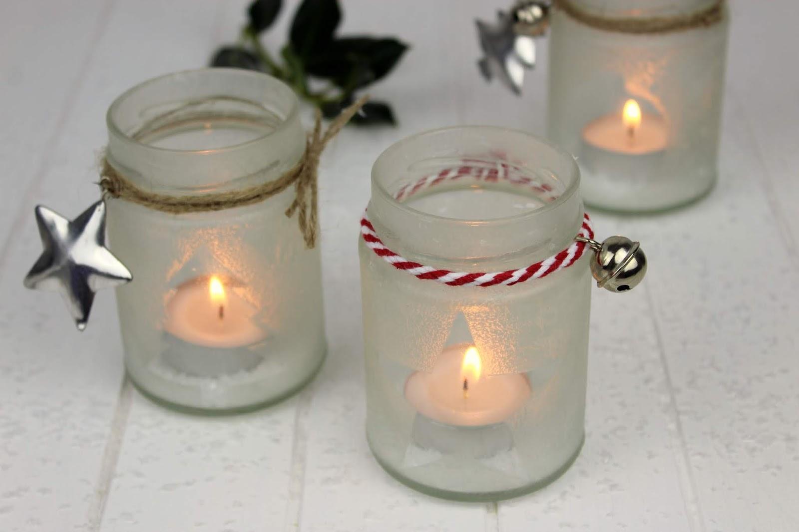diy wundersch ne weihnachtsdeko eisblumen windlichter ganz einfach aus konfit rengl sern. Black Bedroom Furniture Sets. Home Design Ideas