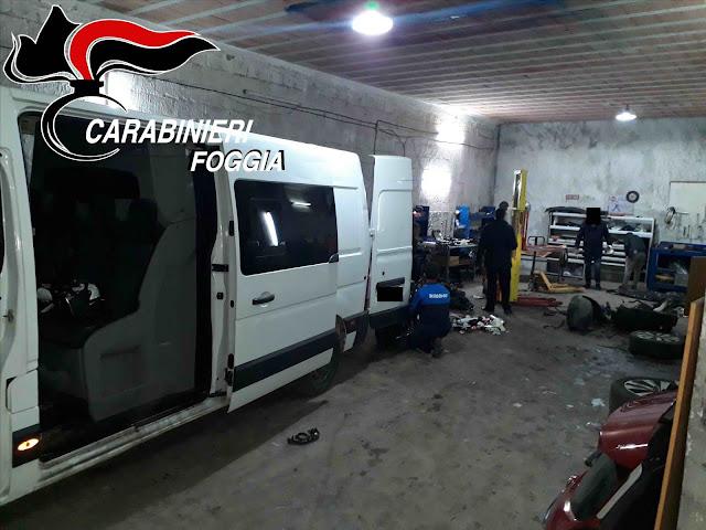 Smontavano due furgoni rubati. A Cerignola i Carabinieri arrestato tre ricettatori