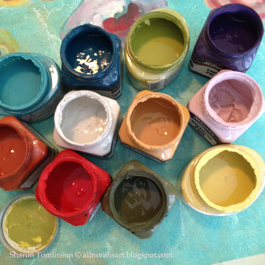 Painted Kitchen Floor Cloth: Norah'S: Painting A Floor Cloth