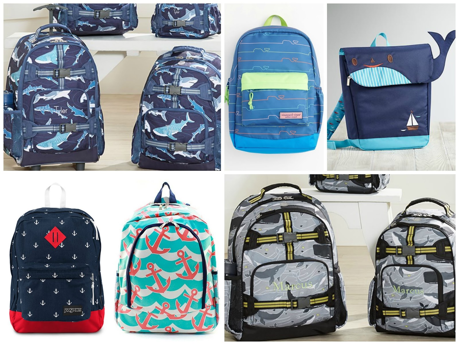 Fantastic Nautical by Nature: Back to School: Nautical backpacks and lunch boxes NI56
