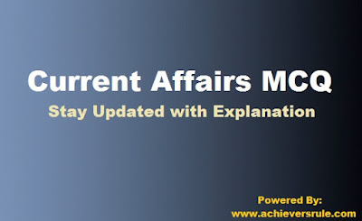 Daily Current Affairs MCQ - 1st September 2017