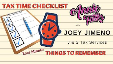 Annie Talks with Tax Preparer Joey Jimeno