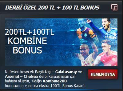 Odeonbet Derbi Özel Kombine Bonusu BJK - GS